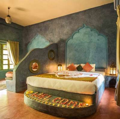 Specially designed to celebrate the colorful and mystical spirit of India, our bouquet ofroomsspeak to your senses. Our Royal Villa has a majestic Rajasthani decor influence. Everything you have dreamed of and more! We have created sacred spaces for y
